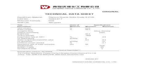 Technical Data Sheet Shelf Life
