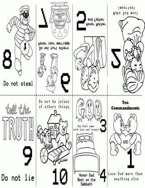 Ten Commandments Coloring Page Sermons4Kids