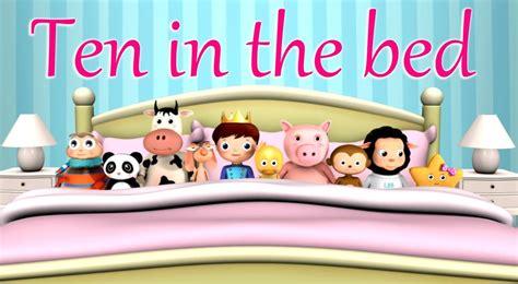 Ten In The Bed Nursery Rhyme With Lyrics Cartoon