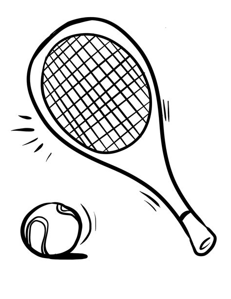 Tennis Coloring Page GetColoringPages