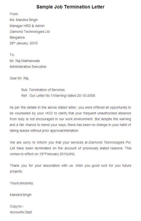 Termination Letter Sample Termination Letter Format