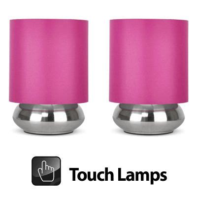 Tesco direct Pair of Touch Table Lamps Brushed Chrome