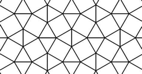 Tessellation with Triangle and Square Tiling coloring page