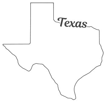 Texas State Map Template Texas Map with Borders