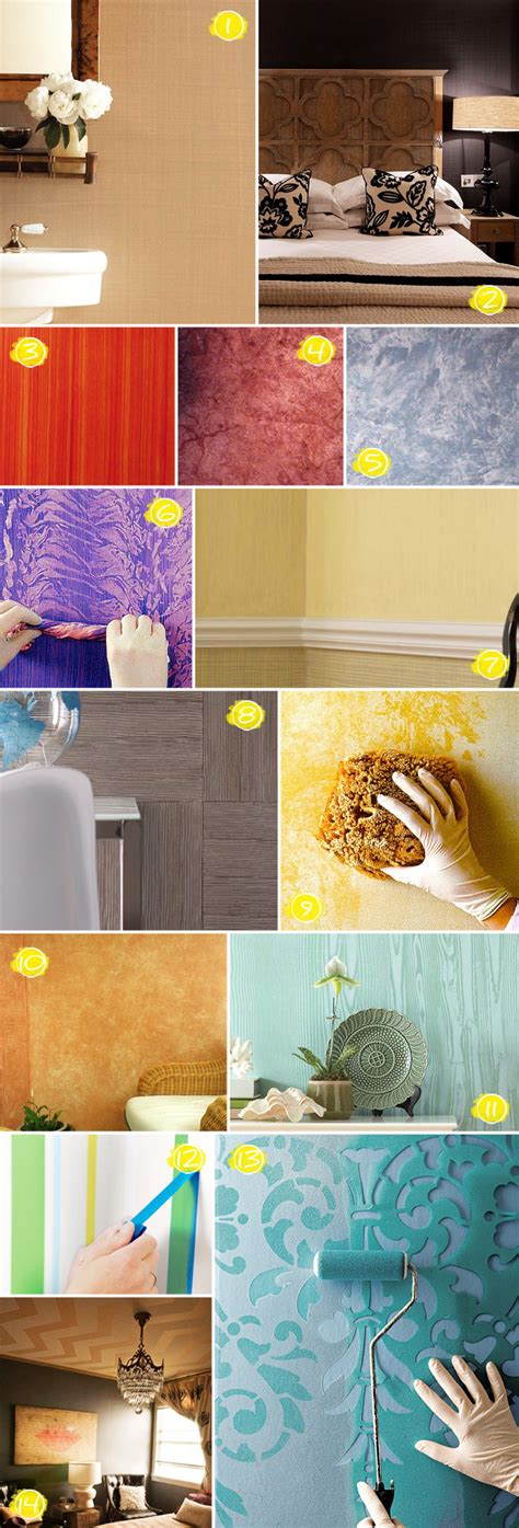 Textured Wall Painting Ideas From Faux Wood to Linen
