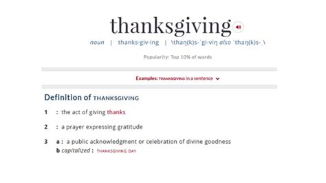 Thanksgiving Definition of Thanksgiving by Merriam Webster