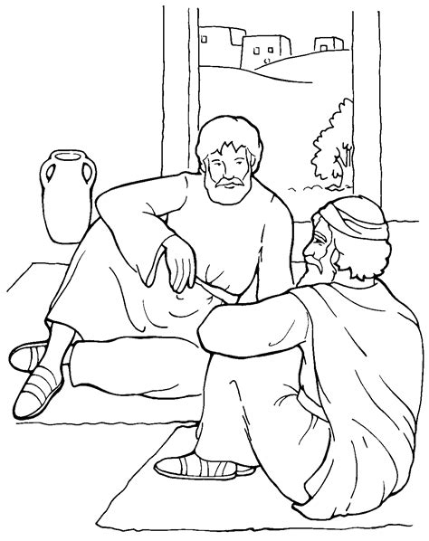 The Apostle Paul Coloring Page Sermons4Kids