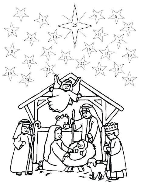 The Christmas Story Advent Coloring Book