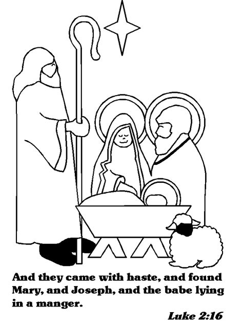 The Christmas Story Advent Coloring Book dltk bible