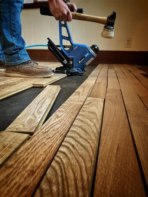 The Couture Floor Company Wood Floor installation