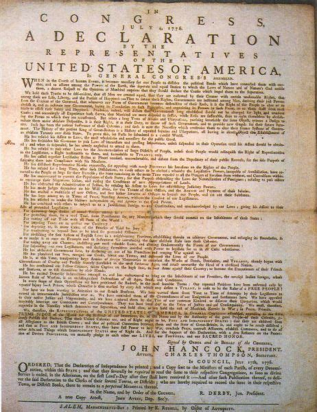 The Final Text of the Declaration of Independence July 4