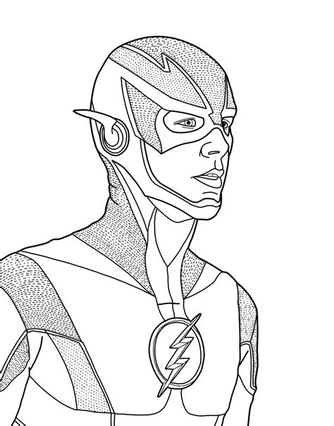 The Flash Coloring Pages GetColoringPages