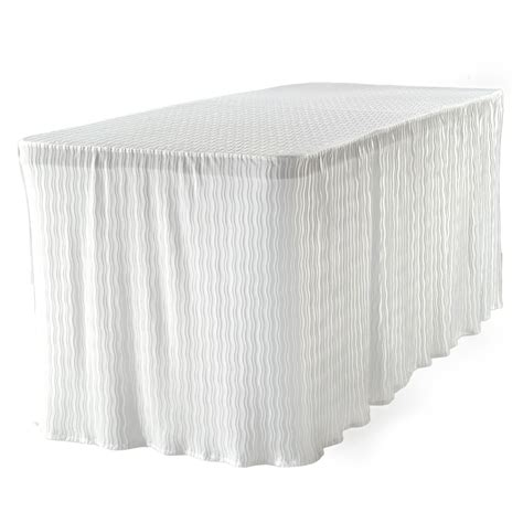 The Folding Table Cloth 6 ft White Table Cloth Made for