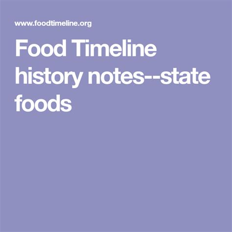 The Food Timeline history notes state foods