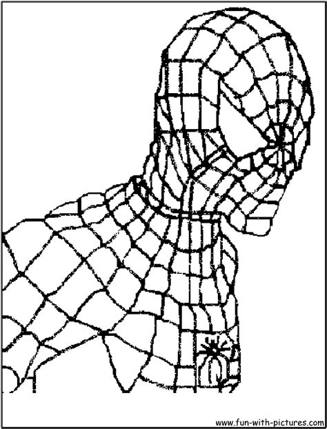 The Head Of Spider man coloring page Free Printable