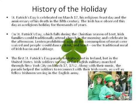 The History of St Patrick s Day Video History of St