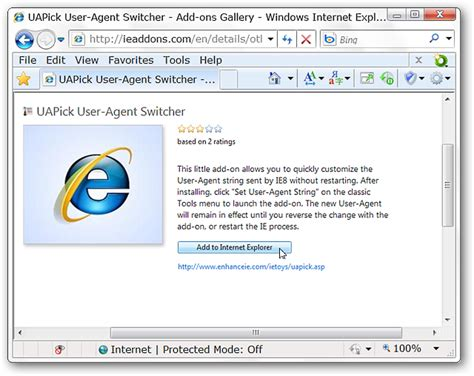 The Internet Explorer 8 User Agent String Updated Edition