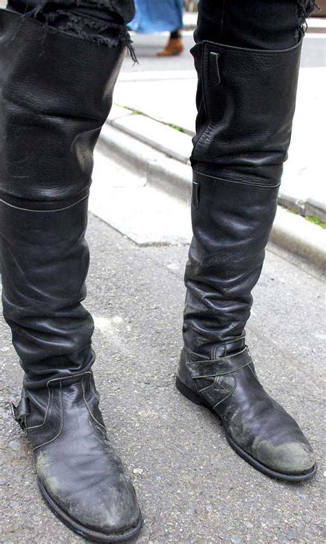 The Knee High Boots For Men Are Back Men Style Fashion