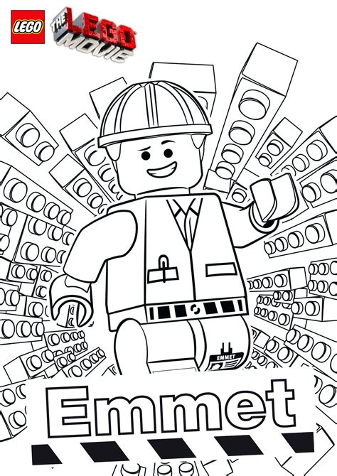 The LEGO Movie Coloring Pages The Brick Fan
