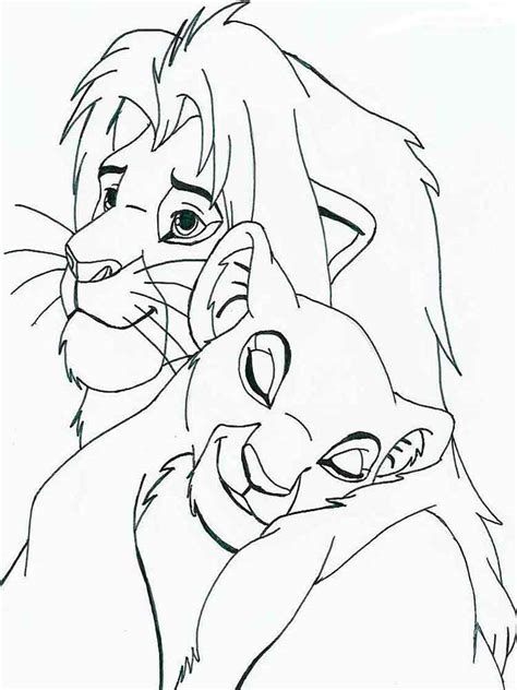 The Lion King Coloring Page Disney Family