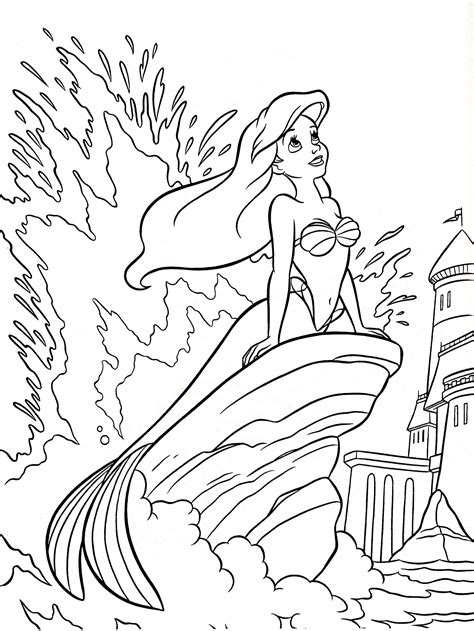 The Little Mermaid Coloring Pages All Kids Network
