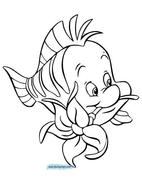 The Little Mermaid coloring pages 32 free Disney