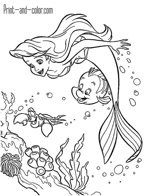 The Little Mermaid coloring pages Free Coloring Pages