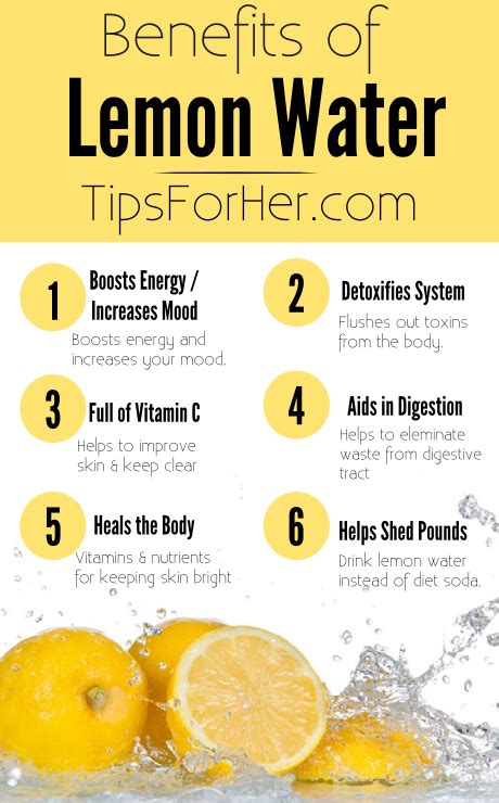 The Many Health Benefits Of Lemon Water