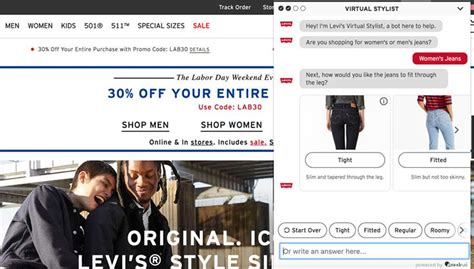 The New Levi s Chatbot Aims To Help Shoppers Find The