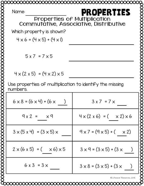 Worksheets Distributive Property Worksheets 4th Grade associative property of multiplication worksheets 4th grade the properties worksheets