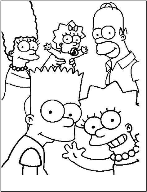 The Simpsons coloring pages on Coloring Book info