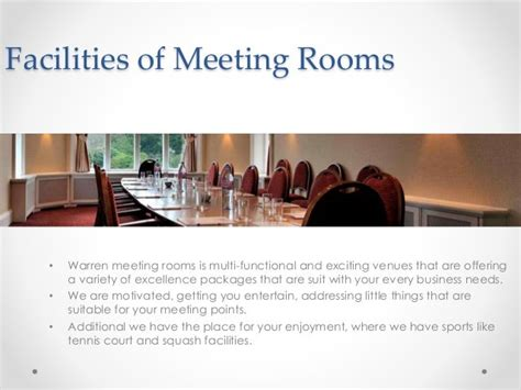 The Warren Meeting Rooms in Bromley Conference Venue