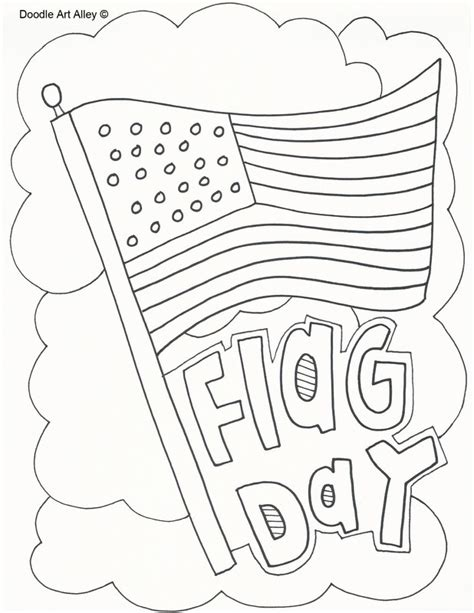 The White House Coloring Page Flag Day fun printable