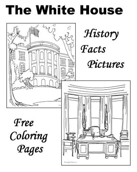 The White House History Facts Pictures and Coloring pages