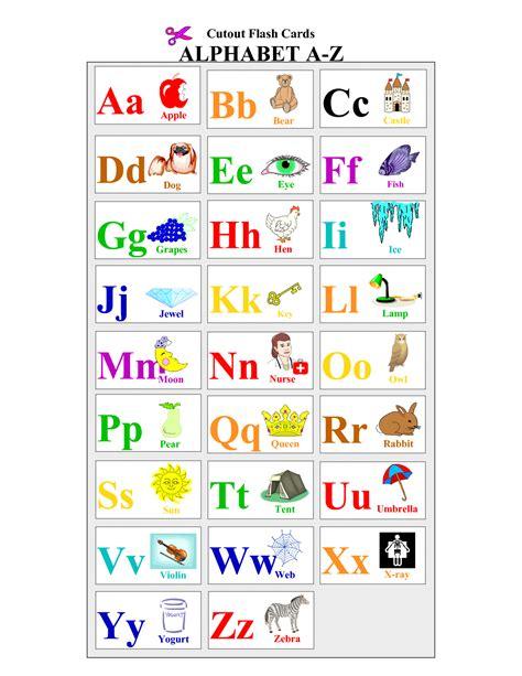 The alphabet Alphabet flash cards ABC alphabet Kids Pages