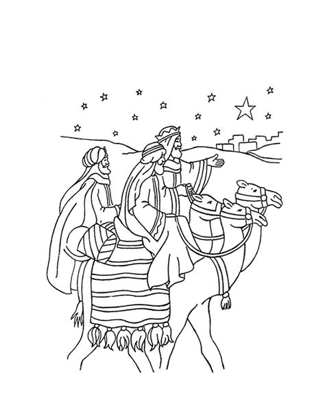 The journey of the three wise men coloring pages