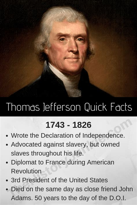 Thomas Jefferson facts information pictures