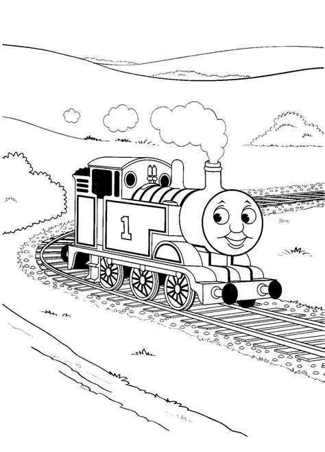 Thomas The Tank Engine Coloring Pages GetColoringPages
