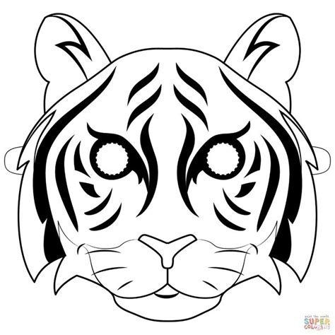 Tiger Mask Printable Templates Coloring Pages