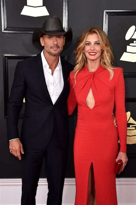Tim McGraw And Faith Hill Grammys 2017 Red Carpet
