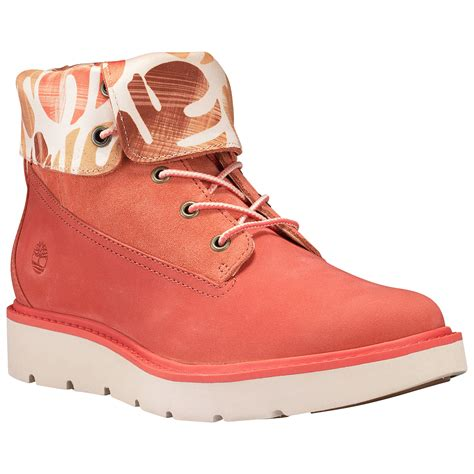 Timberland Boots Heels For Ladies Roll Boots Red Grey