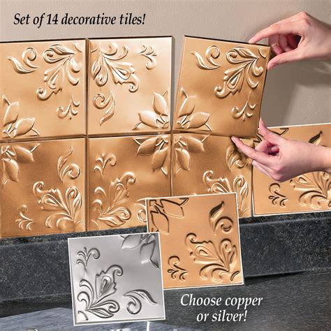 Tin Kitchen Backsplash Tiles Set of 14 from Collections Etc