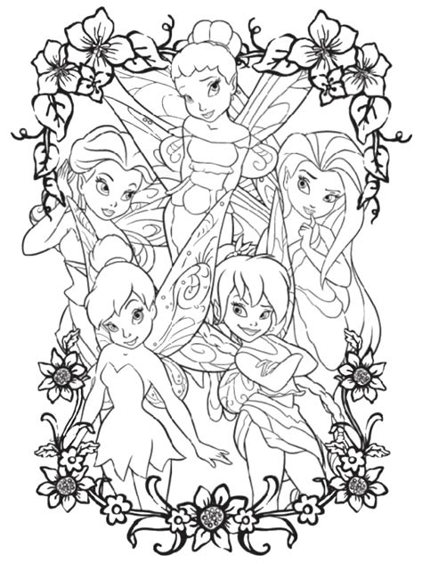 TinkerBell Coloring Pages Coloring Kids