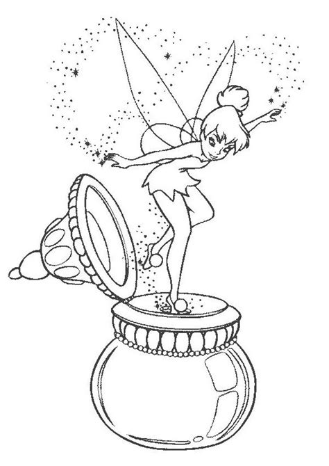Tinkerbell coloring page Free Printable Coloring Pages
