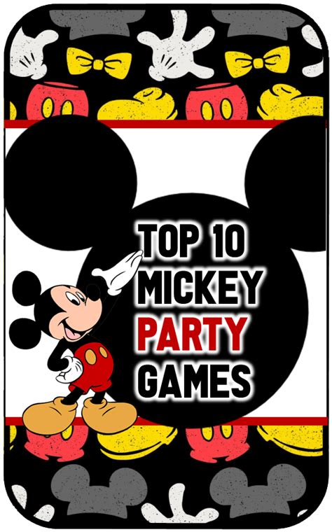 Top 10 Mickey Mouse Birthday Party Ideas for Games