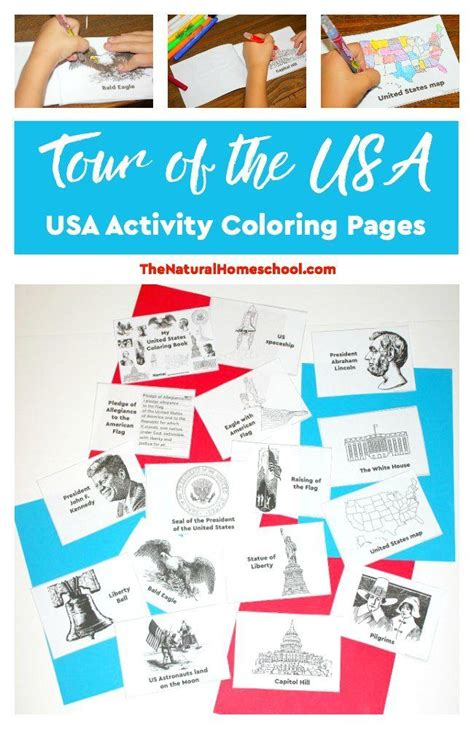 Tour of the USA Printable US Activity Coloring Pages