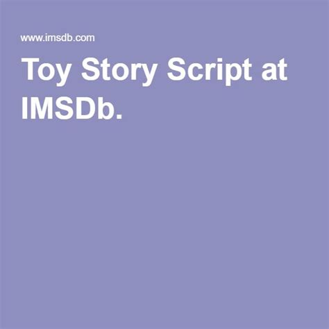 Toy Story Script at IMSDb