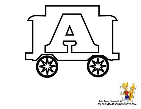 Toy Train Learning Letters Free Alphabet Coloring