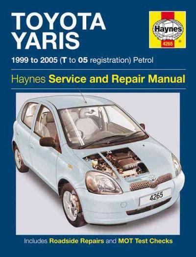 Toyota Yaris Workshop Repair Manual Download 1999 2005