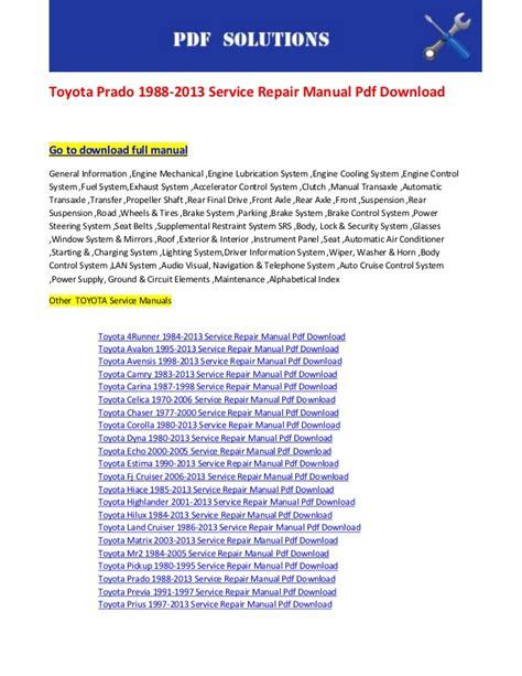 2000 toyota celica audio wiring diagram images 2000 toyota celica audio wiring diagram toyota prado 1988 2013 service repair manual pdf